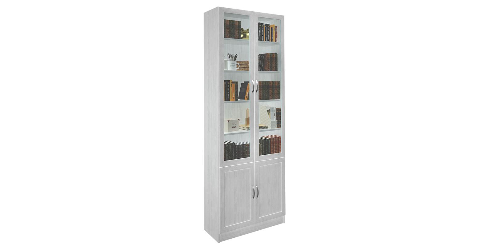 Шкаф распашной четырехдверный жаклин (дуб феррара/белый глян.