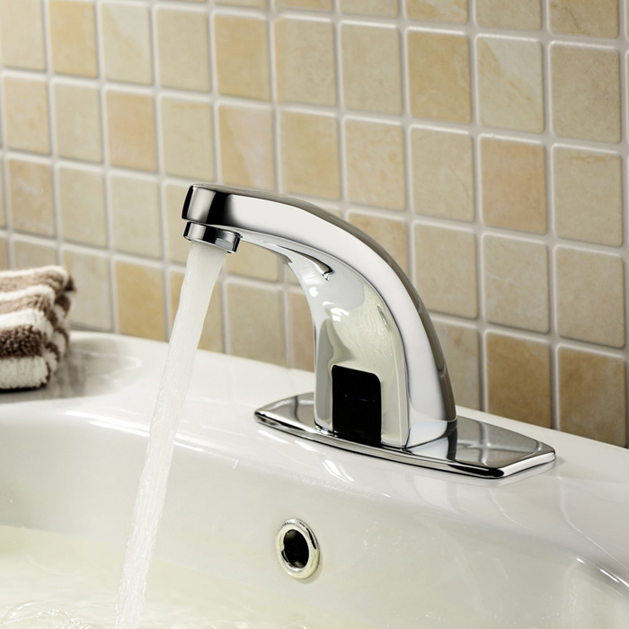 Automatic bathroom faucets