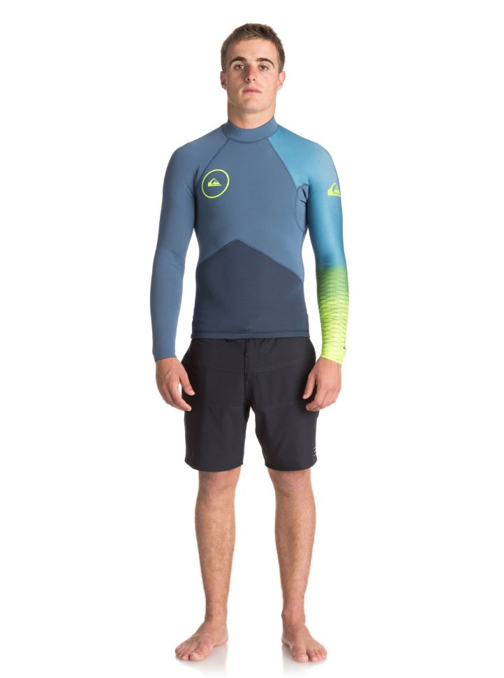 Гидрофуфайка мужская QUIKSILVER 2M Hl+ J Slate/ Pewter/ Safety Yellow