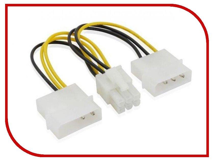 u041fu0435u0440u0435u0445u043eu0434u043du0438u043a Greenconnect 2x Molex - PCI-E Express Video (6pin) (GC-ST215).