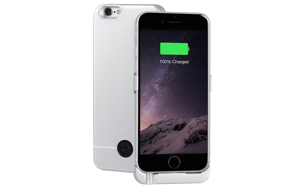 Чехол Аккумулятор Для iPhone 6, 6S, Silver, 3000 мАч, Interstep IS-AK-PCIPH6SIL-000B201