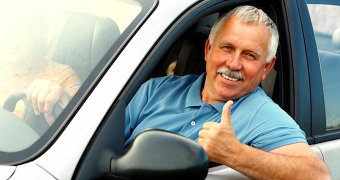 Папа в автомобиле