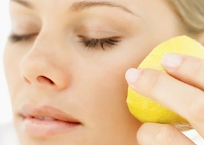 Лимон на лице