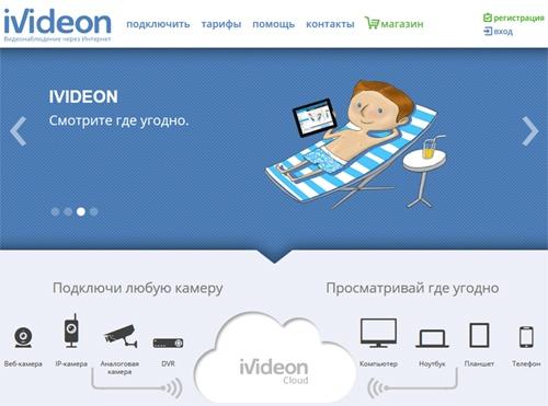 Видеонаблюдение через интернет Ivideon