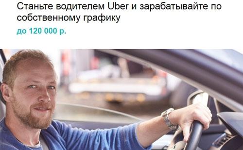 Работа водителем в Убер такси