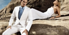 В моде широкие белые брюки
